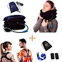 K'smarts Neck Traction Device for Home Pain Treatment and Posture Corrector Set...