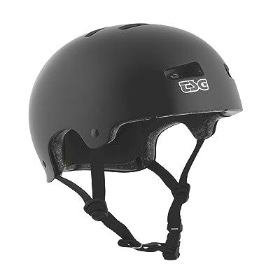 TSG - Kraken Solid Color - Helmet for Bicycle Skateboard (Satin Black, S/M 54-56 cm): Toys & Games