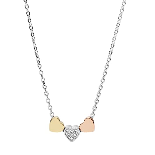 5c5ea66868a3 Fossil Collar Cadena de Mujer con Acero Inoxidable  Amazon.es  Joyería