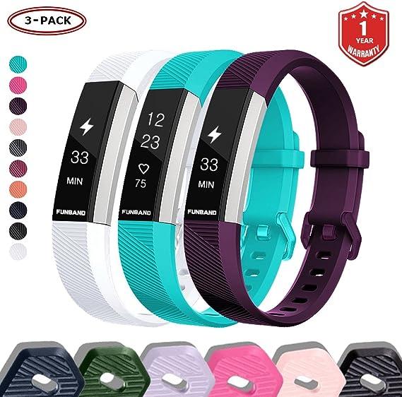 Imagen deFunBand Correa para Fitbit Alta HR y Fitbit Alta, Edición Especial Soft Silicona Deportes Recambio de Pulseras Ajustable Reemplazo Accesorios para Reloj Fitbit Alta HR y Fitbit Alta