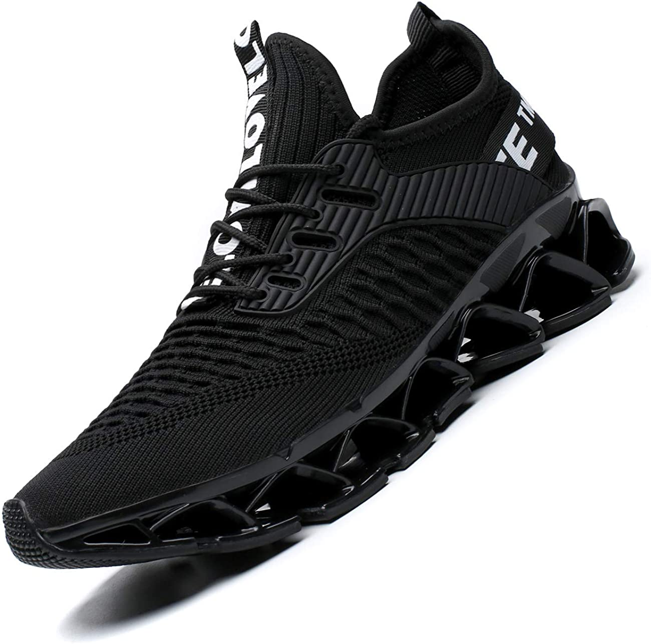 Chopben Mens Running Shoes Blade Non Slip Fashion Sneakers Breathable Mesh Soft Sole Casual Athletic Lightweight Walking Shoes