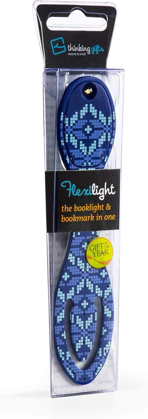 Flexilight LED Lesen Buch Licht Anklammern Einstellbar Reise Lesezeichen Lampe Geschenk Isl/ändisches Blau