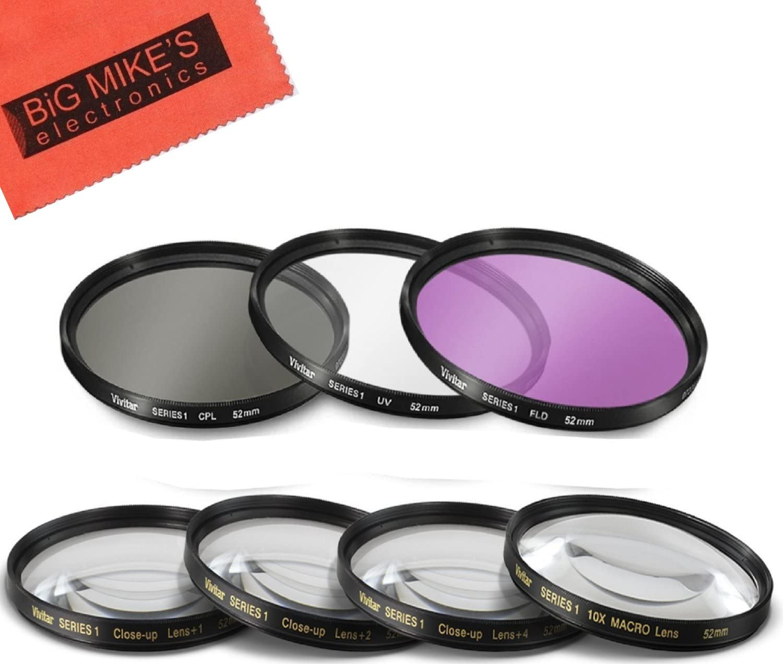 DavisMAX Fibercloth Filter Bundle 72mm UV Filter for Nikon D5100 with Nikon 18-200mm Lens
