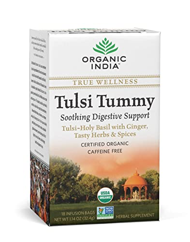 Organic India Tulsi Wellness Tummy Tea, 25 Tea bags