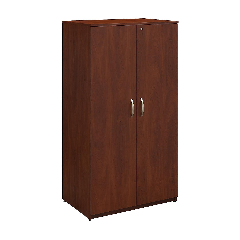 Bush Business Furniture Series C Elite 36W Storage Wardrobe Tower in Hansen Cherry