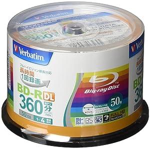 Verbatim Blu-ray Disc 50 pcs Spindle - 50GB 4X BD-R DL - Inkjet Printable