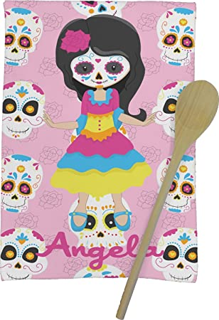 Niños azúcar calaveras toalla de cocina - Full Print (personalizado): Amazon.es: Hogar