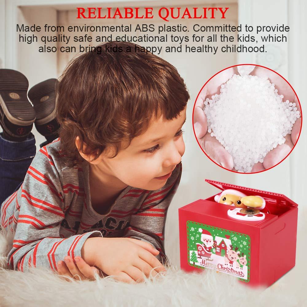 Regalo del Ringraziamento Simpatico Babbo Natale Rubare la Scatola di Risparmio di Denaro Musica Automatica Konesky Salvadanaio Natale Regalo per Bambini