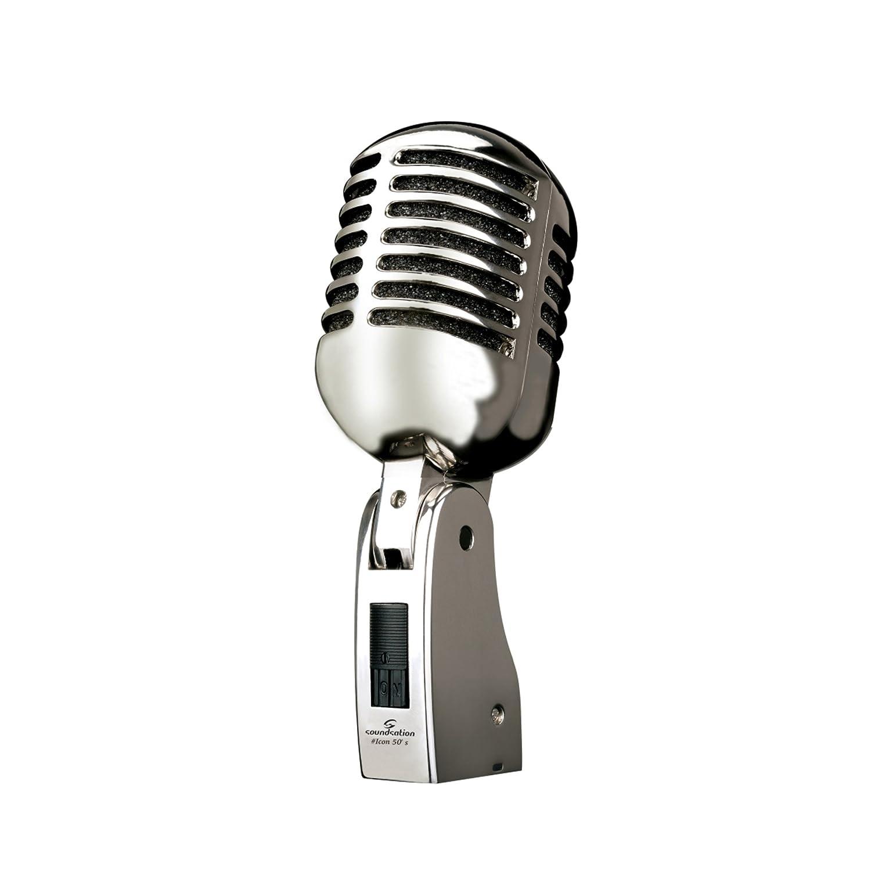 SOUNDSATION ICON 50's microfono vintage classico switch ON/OFF per canto voce ICON 50's