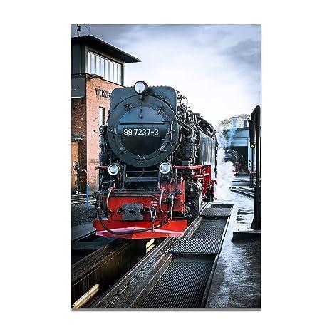 Amazon.com: YJFFBH Tren Tren De Vapor Tamaño Grande Carteles ...