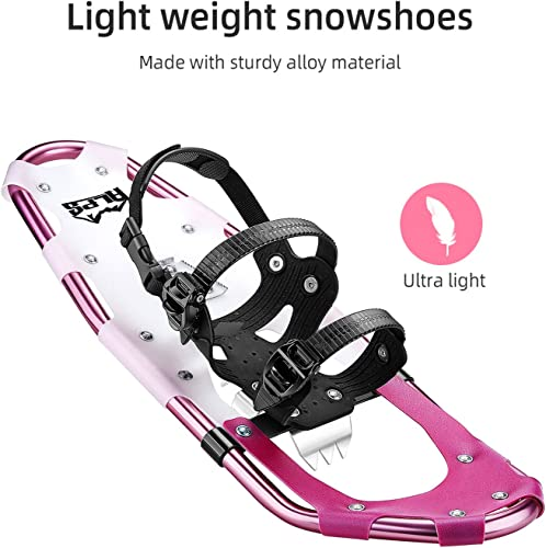 ALPS Lightweight Snowshoes Set for Women,Girls Trekking Poles,Carrying Tote 25
