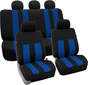 FH Group FB036BLUE115 Seat Cover (Airbag Compatible and Split Bench Blue)