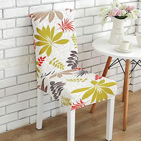 Awland Dining Chair Slipcovers Cover Seat Protector Short Stretch Spandex Dining Room Banquet Chair Seat Cover For Kitchen Bar Hotel Party Set Of