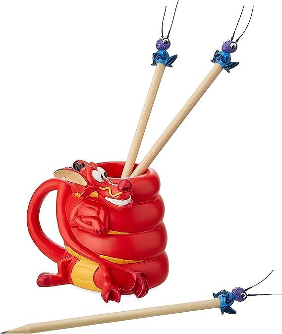 Disney Mushu y CRI-Kee – Juego de portalápices y lápices – Mulan no color466030514717: Amazon.es: Hogar