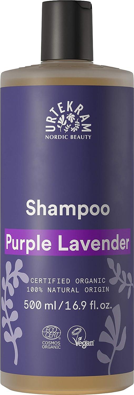 Urtekram Purple Lavender Champú BIO, hidratación y equilibrio, 500ml