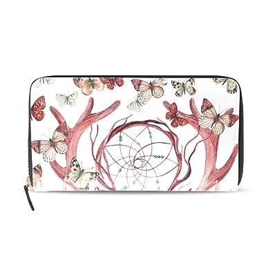 Amazon.com: Cartera con cremallera para mujer, diseño de ...