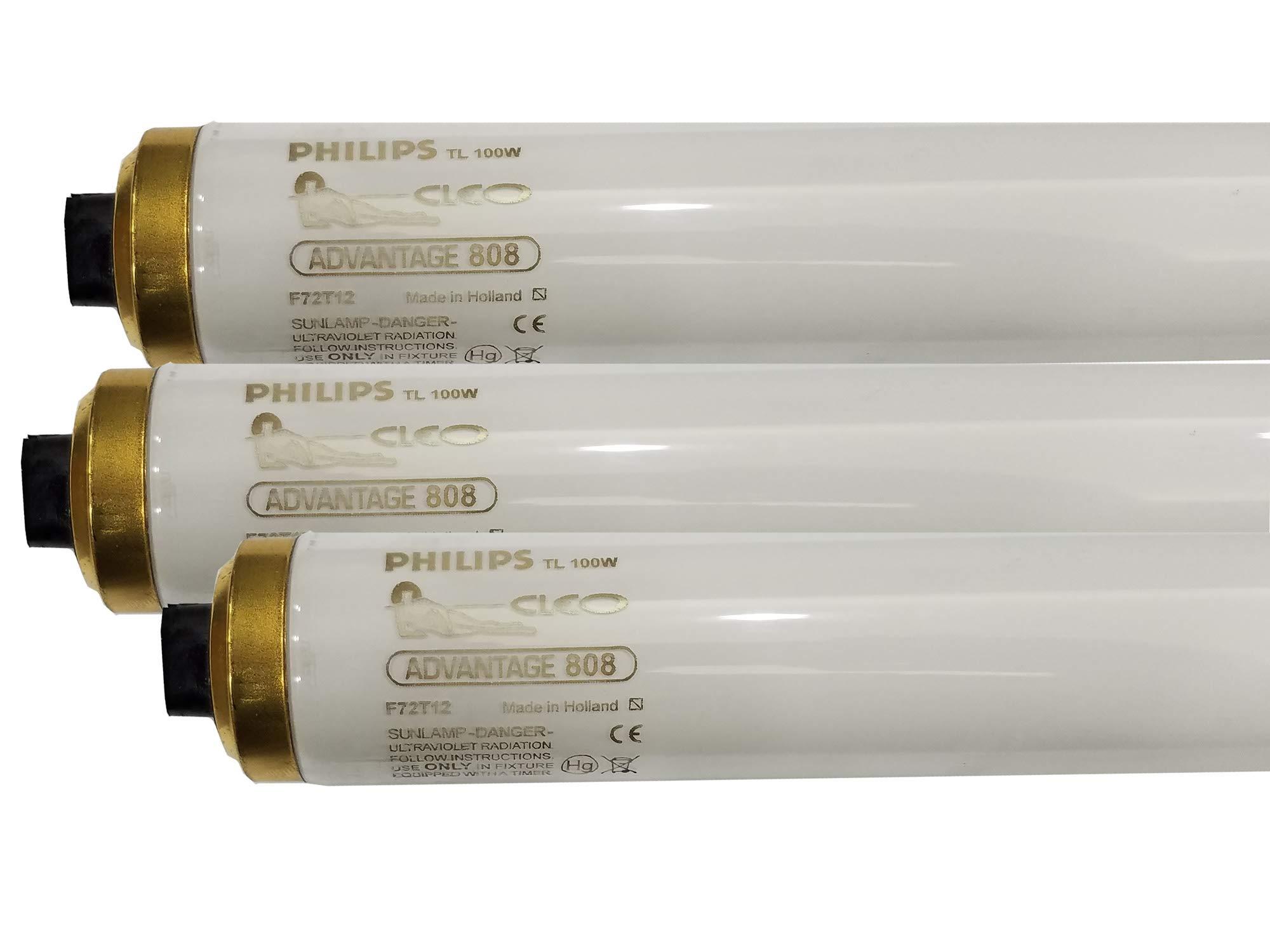 Philips Cleo Advantage 808 Tanning Bulbs F72T12 HO RDC 100W - Intense Bronze! (16)