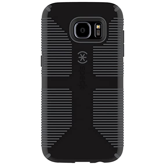 timeless design 3462e 35782 Speck Products Samsung Galaxy S7 Edge Case, CandyShell Grip Case  (Black/Slate Grey), Military-Grade Protective Case