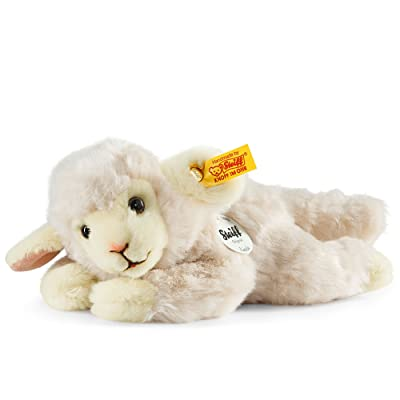 Steiff Little Friend Linda Lamb Plush, Wool White: Toys & Games