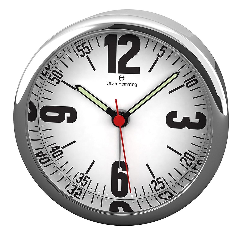 オリバーヘミング 置き時計 イギリスブランド アラーム 付き 80mm HX80S66W [並行輸入品] B01N19ZD0G