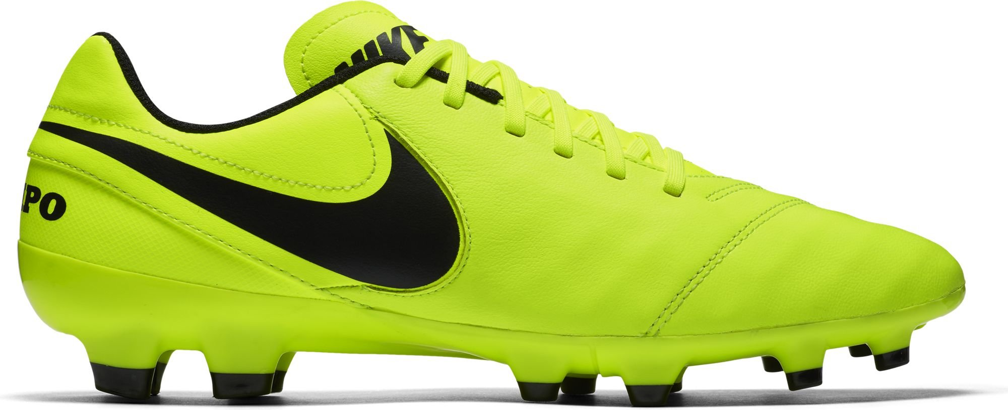 buy online 6a59d 852c2 Galleon - Nike Mens Tiempo Genio II Leather FG Soccer Cleat (Sz. 9.5) Volt