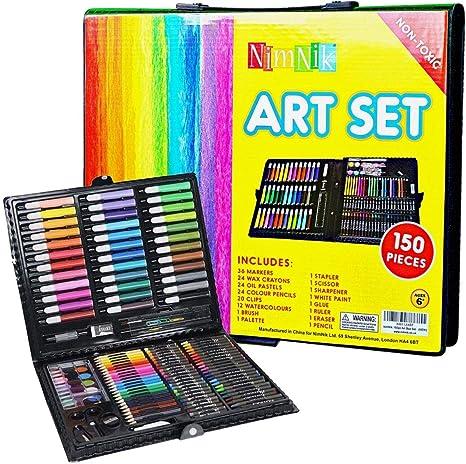 Set de arte para niños y niñas – Juego de 150 piezas de creatividad para dibujar, estuche de regalo para niños | Gran regalo de cumpleaños para niñas de todas las edades: