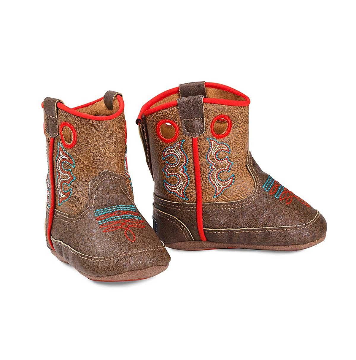 Dbl Barrel Baby Buckers Infant Boy Kolter Boot/ BROWN 1 Brown w//Red Trim