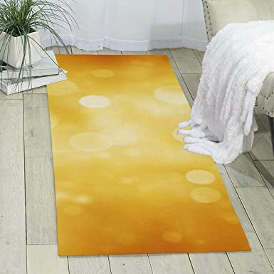Amazon Com Workout Mat For Yoga Golden Spot Print Area Rug Runner