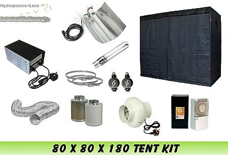 Complete Hydroponic Grow Room Tent Fan Filter HPS Light Kit 600 watt 80x80x180 (0.8 x  sc 1 st  Amazon UK & Complete Hydroponic Grow Room Tent Fan Filter HPS Light Kit 600 watt ...