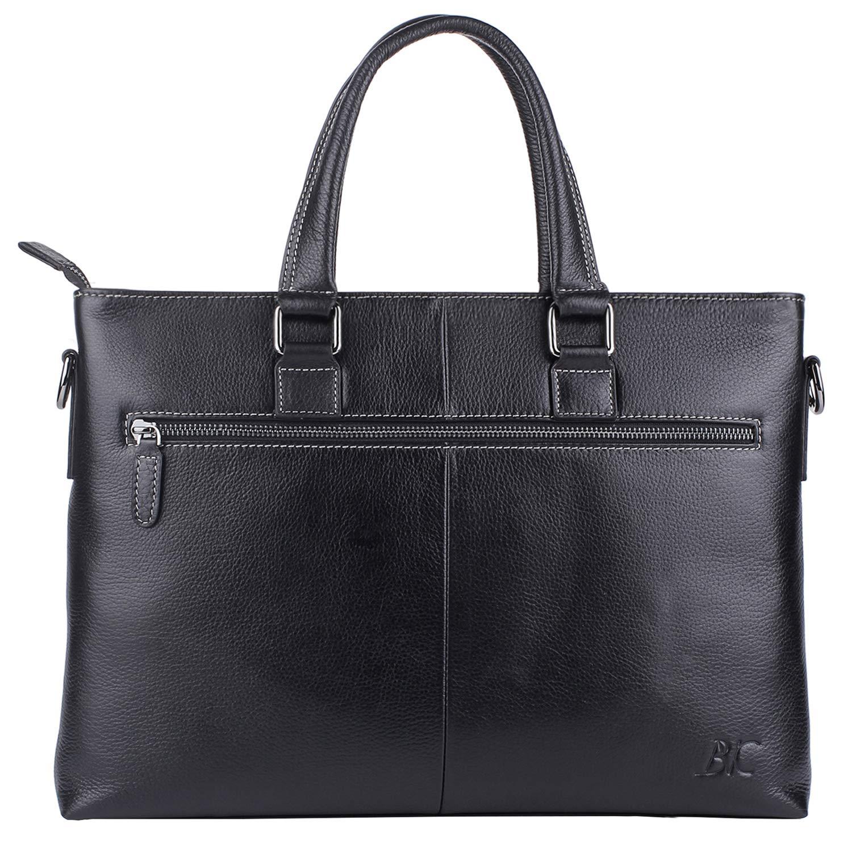 Banuce Genuine Leather Briefcase for Men Women Shoulder Messenger Bag Executive Bussiness Tote Laptop Bag by Banuce (Image #2)