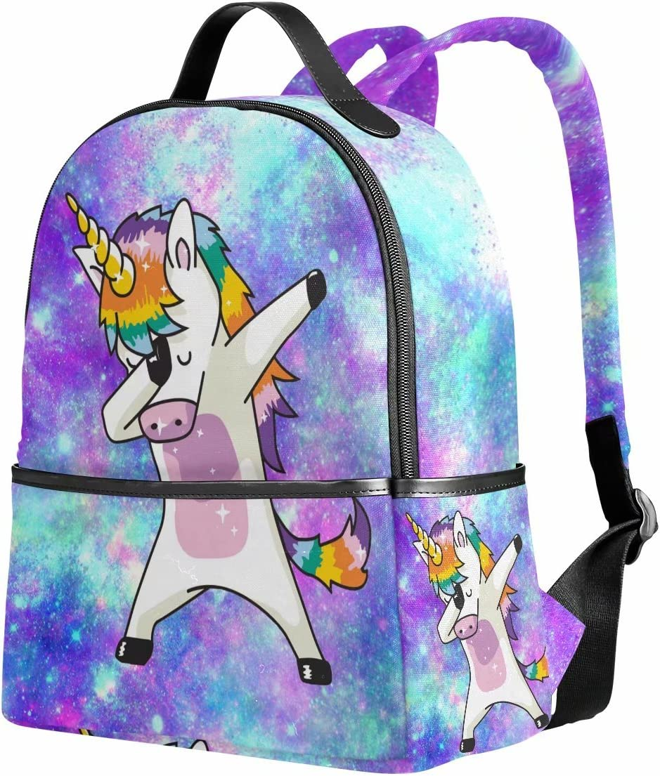 Unicorn Backpack for Girls Galaxy Cute Bookbags Elementary School Bags 12.6x 5 x 14.8 for Kids