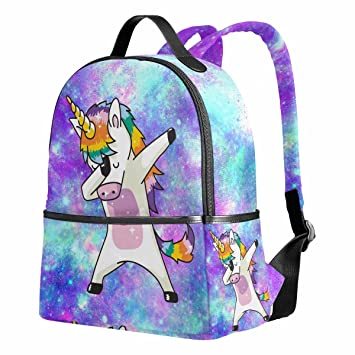 dee2bfb5f Unicorn School Backpack for Girls Galaxy Cute Bookbags Elementary School  Bags 12.6