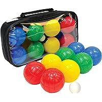 Set de Fun Bocce, 4x2 Bolas de Plástico, 1x Bola de Puntería, en una Bolsa de Transporte con Cierre