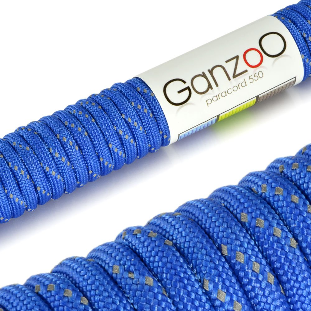 'Reflective Universal Survival Rope Made of tear-resistant Parachute Cord/Paracord 550Core Rope Nylon, 550lbs Total Length 31Meters (100ft) Colour: OrangeÂ&Ac