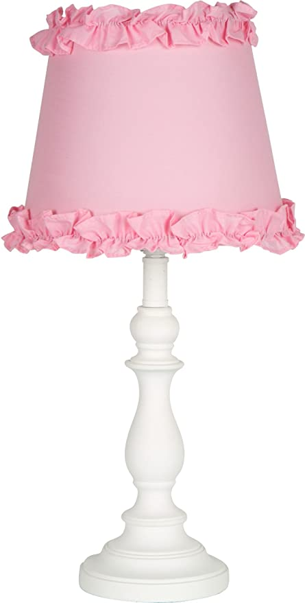 Amazon.com: Princess \'Girls Table or Desk Lamp with Pink Ruffle ...