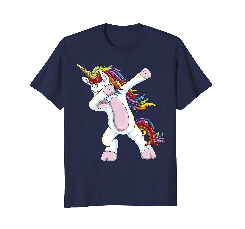 Dabbing Unicorn Shirt - Funny Unicorn Dab Tshirt Gift-fa