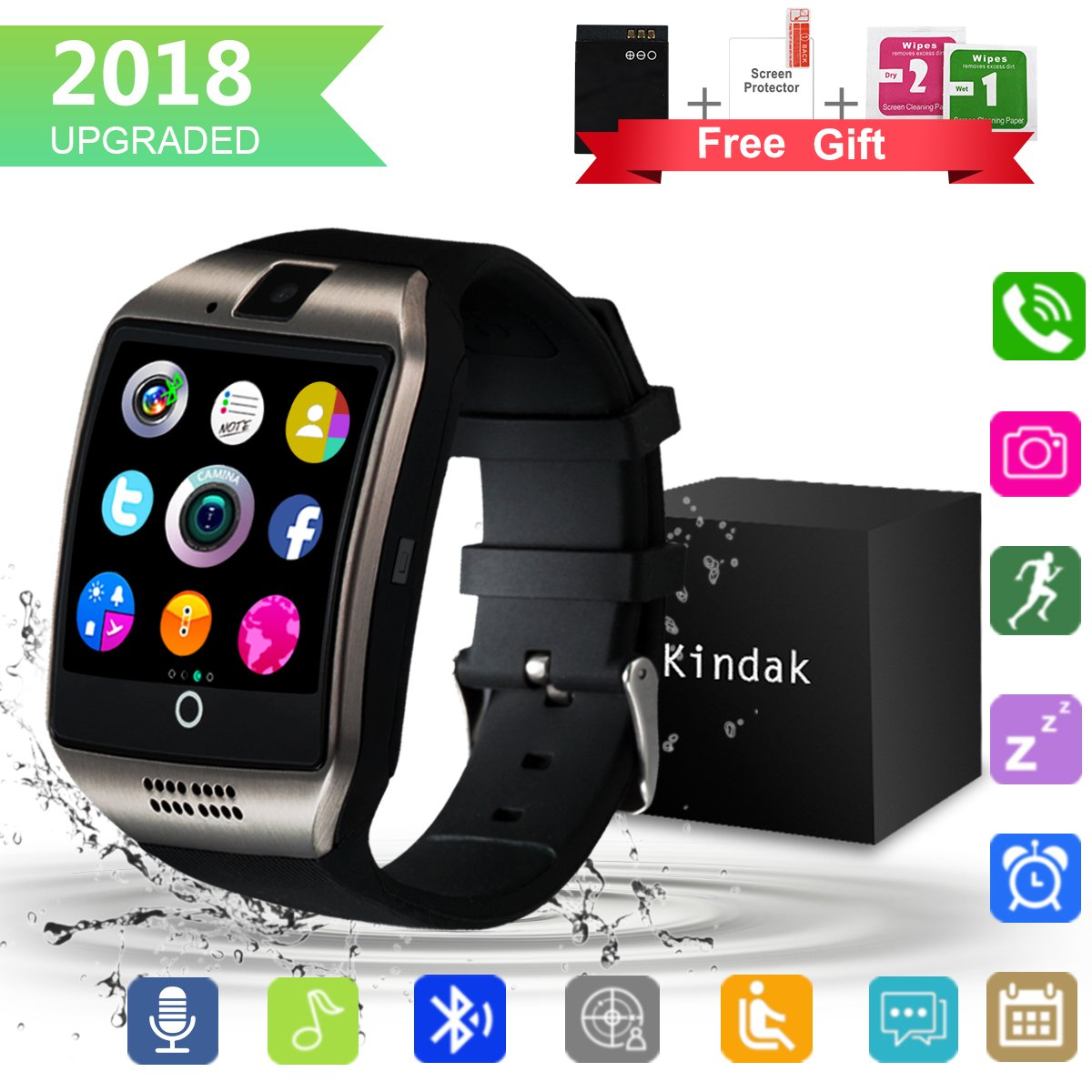 Smartwatch, Impermeable Reloj inteligente con Sim Tarjeta ...