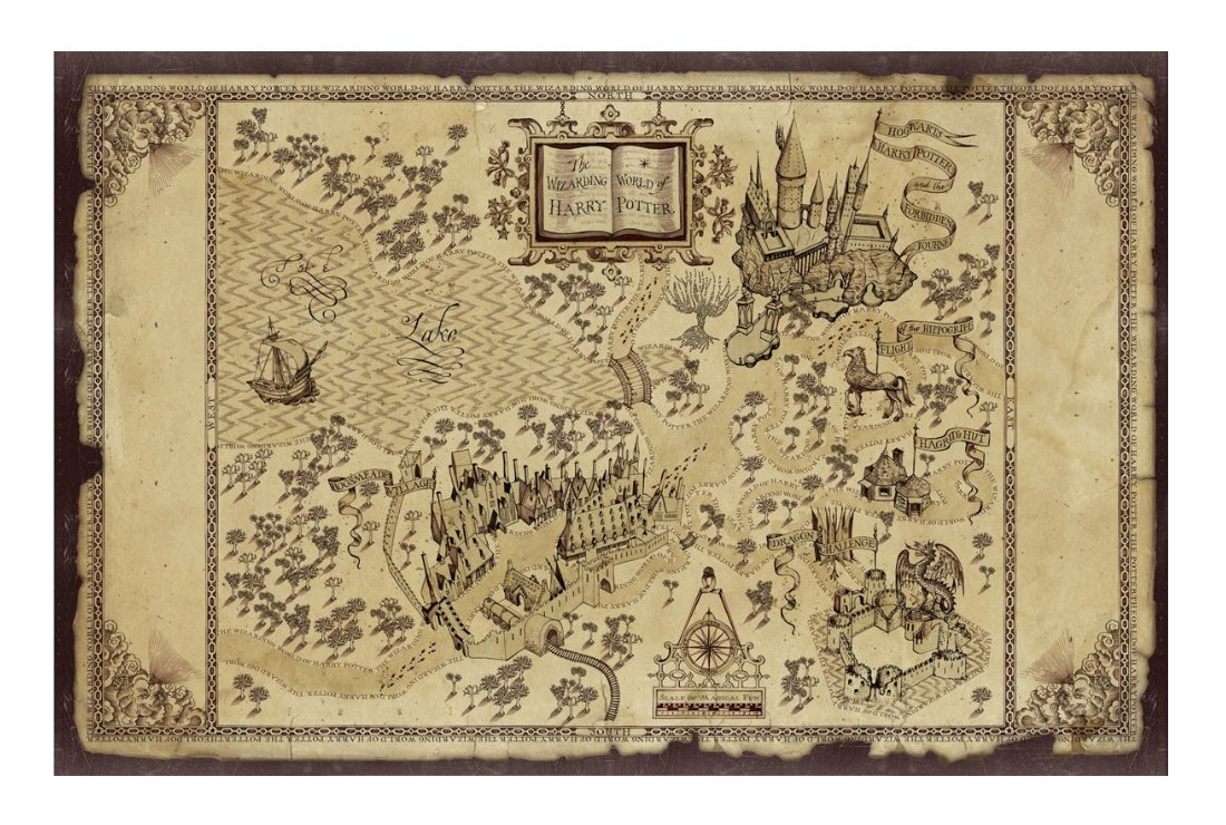 Amazon.com: Hogwarts Wizarding World of Harry Potter Map ... on secret s map harry potter, map in game of thrones, map harry potter books, fictional map harry potter,