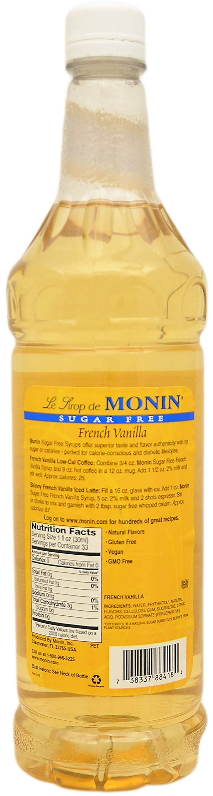 By The Cup Pump and Syrup Combo - Monin Sugar-Free Vanilla and Sugar-Free Caramel Syrup - 1 Liter Bottles with 2 Pumps by By The Cup (Image #2)