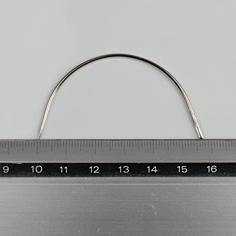 5 gebogene Nadeln zum N/ähen Polsternadeln Per/ückennadeln N/ähnadeln Gr/ö/ßenwahl Gr/ö/ße:31 mm 1.1 mm