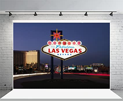 Yeele 5x4ft Las Vegas Night Backdrop Casino City Signpost Photography Background Pictures For Party Banner Adult Portrait Photo Booth Shooting Vinyl