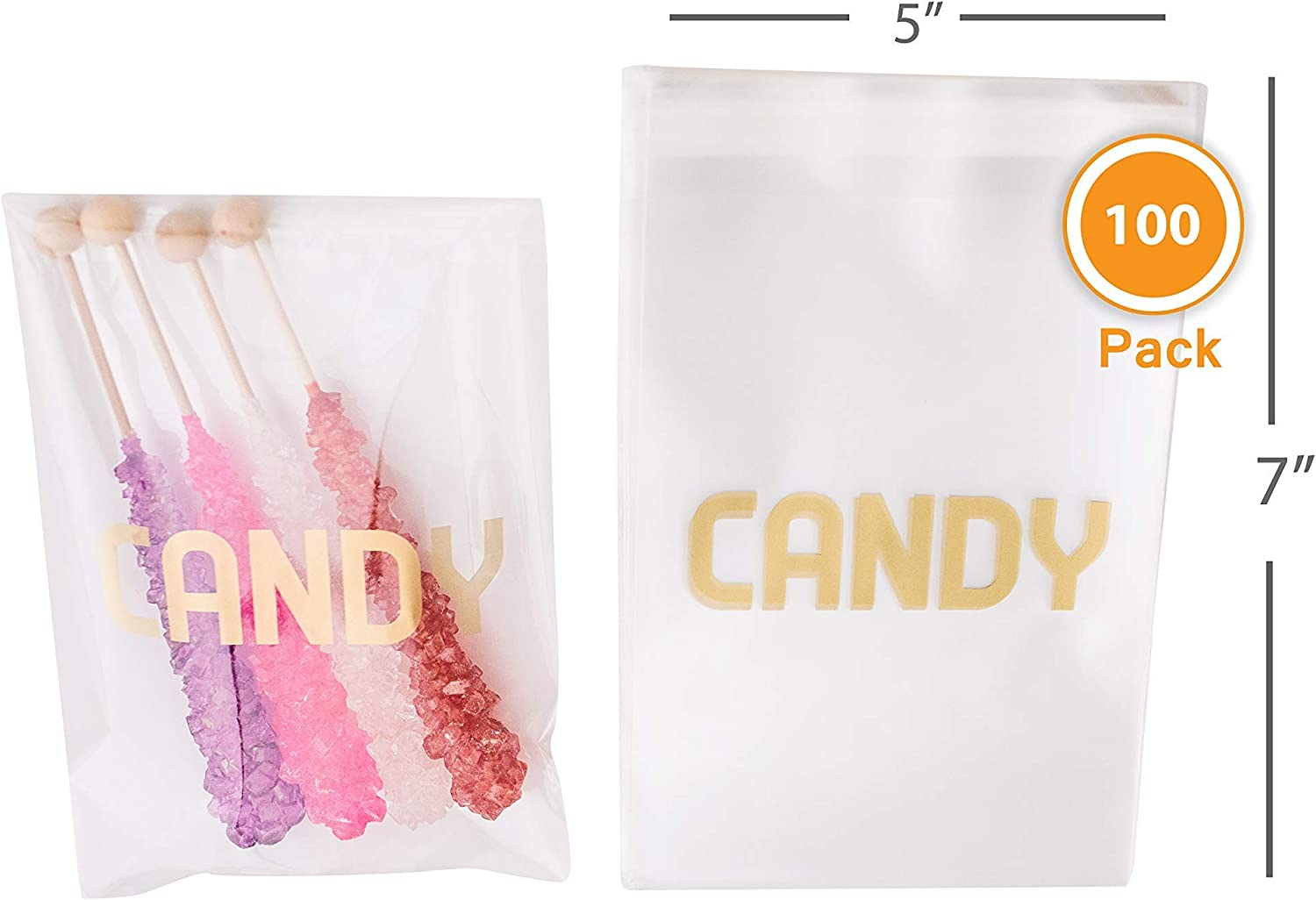 Food Safe Treat Bags Candy Buffet Bags Small Glassine Bags 14 lb 3 34 x 6 14 Wedding Favor Bags Bakery Bags Confetti Bags