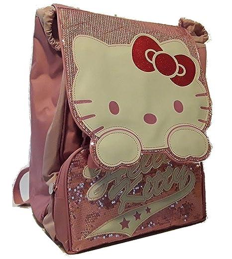 2c52128b32 Zaino Hello Kitty estendibile rosa scintillante: Amazon.it ...