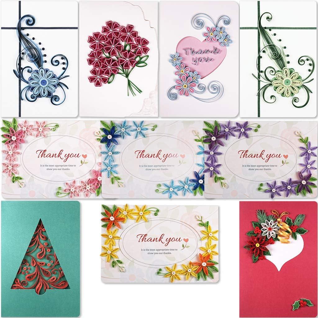 JUYA Quilling Greeting Card Making Kit Mega Pack 10 Different Kits