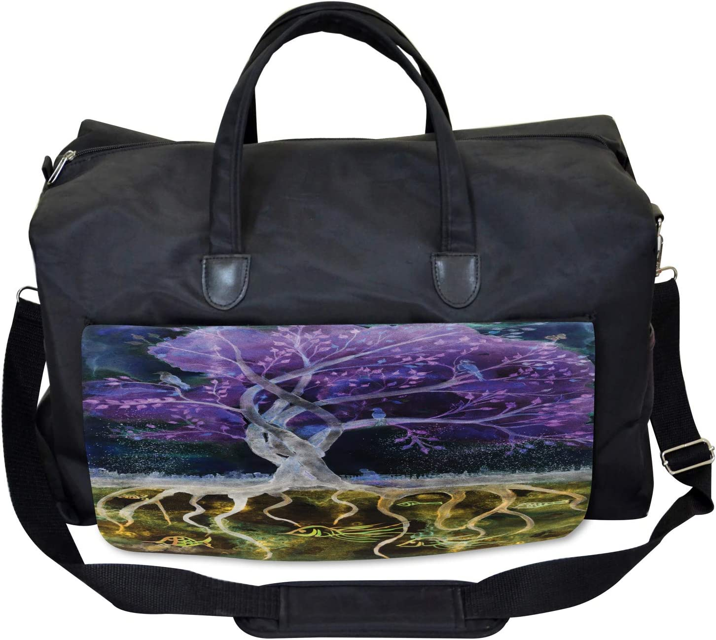 Forest Nature Trees Ambesonne Abstract Gym Bag Large Weekender Carry-on
