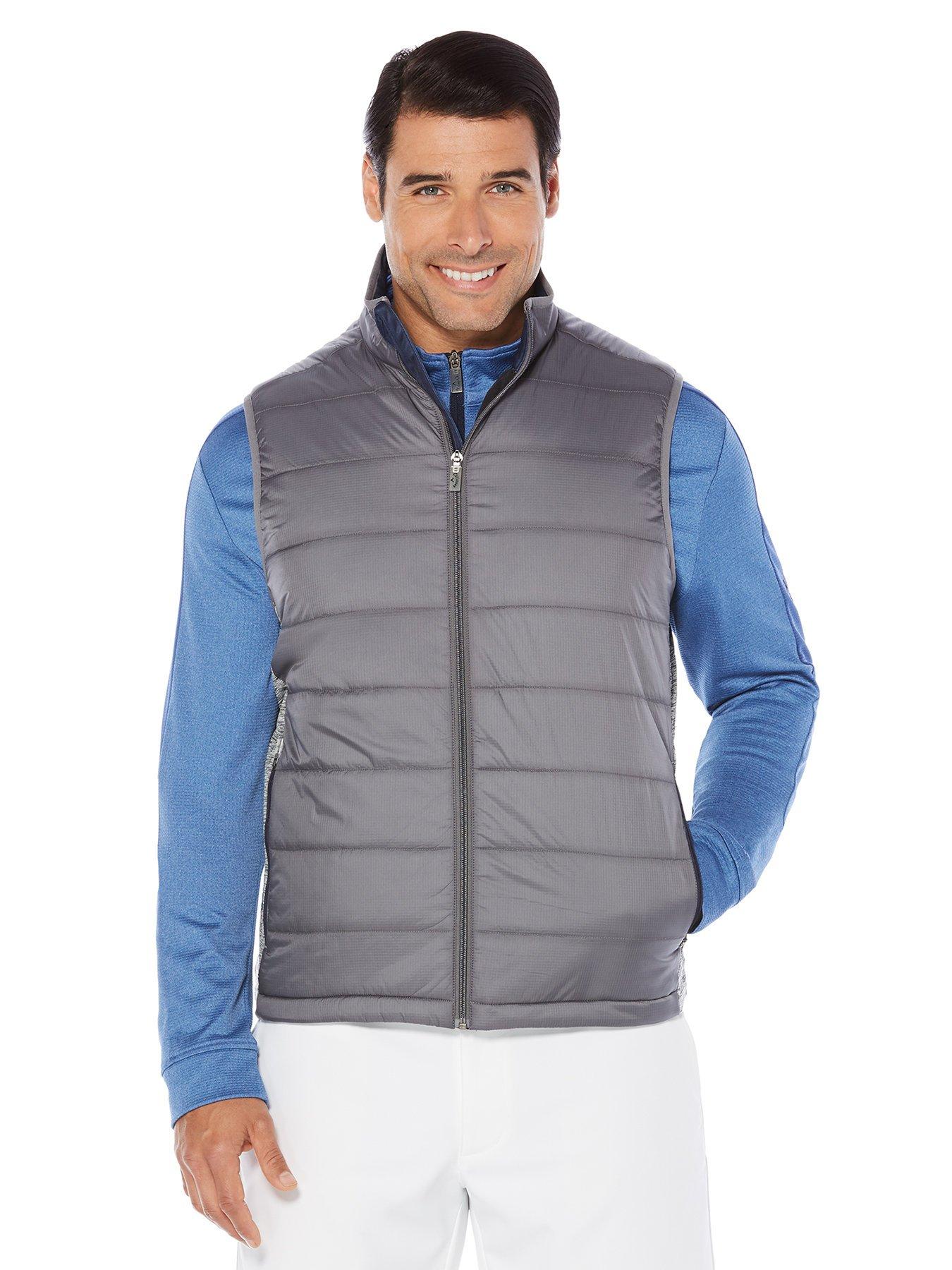 Callaway Men's Opti-Therm Sleeveless Fiber Fill Vest, XX-Large, Medium Grey Heather