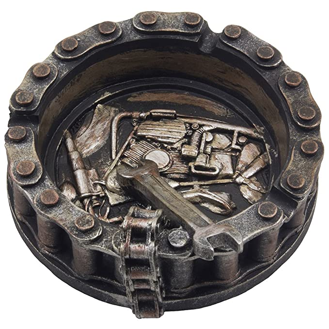 Amazon.com: Cenicero decorativo tipo cadena de motocicleta ...