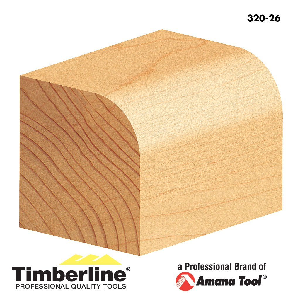 Timberline 320-26 Corner Round 1-1//4-Inch Diameter by 3//8-Inch Radius by 5//8-Inch Cut Height by 1//4-Inch Shank Carbide Tipped Router Bit