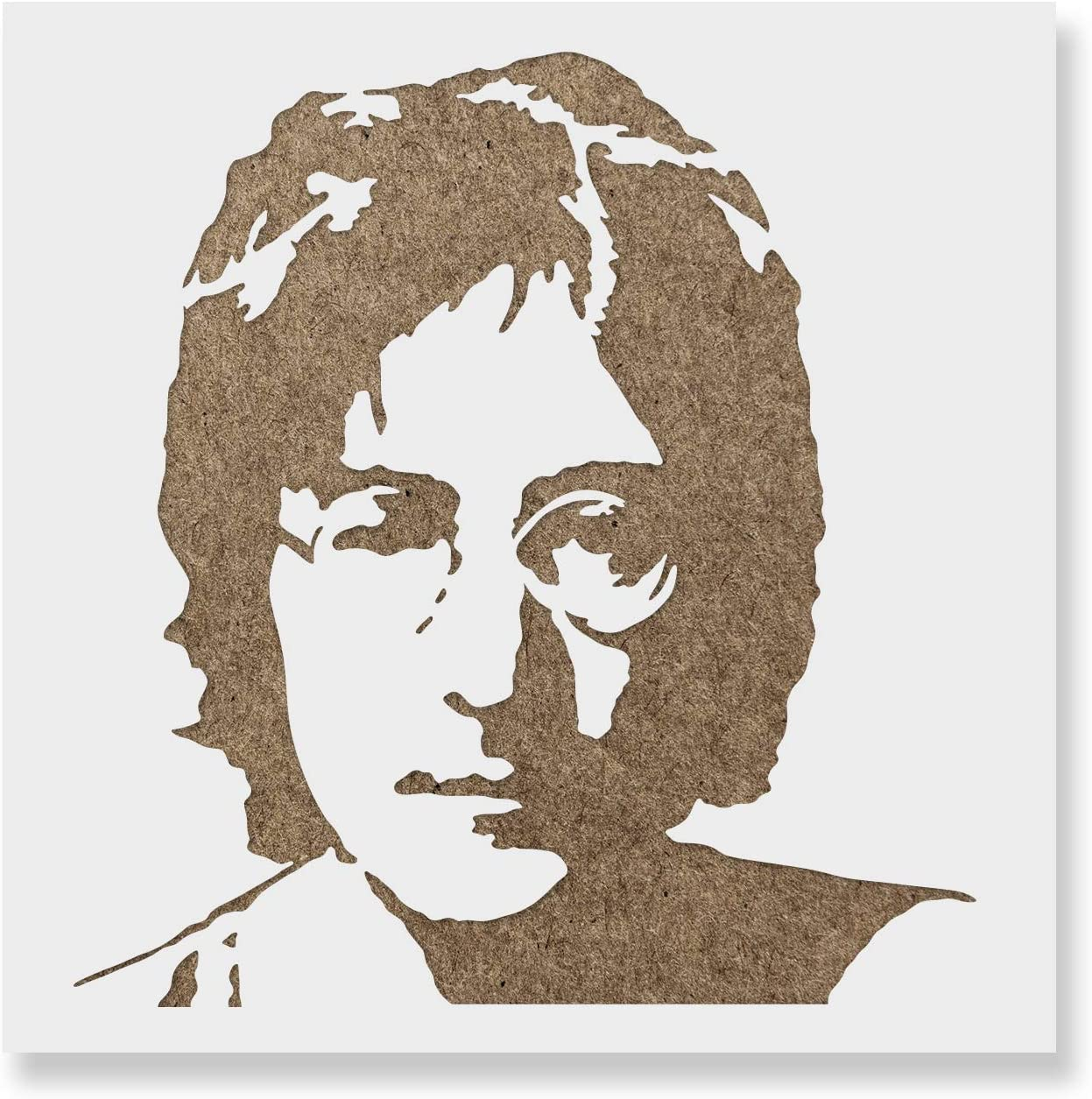 John Lennon Stencil - Reusable Stencils for Painting - Mylar Stencil for Crafts and Decor