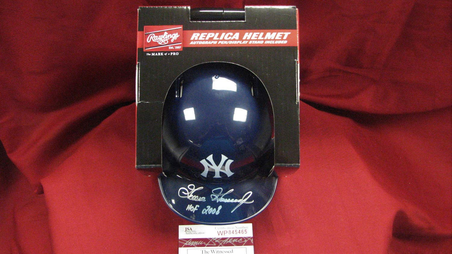Goose Gossage Autographed Signed Ny Yankees Mini Batting Helmet W/Hof 2008 - JSA Authentic Wp